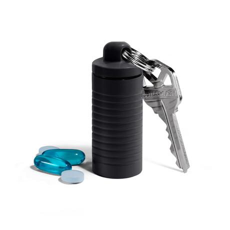 Wide Single Chamber Pill Holder (Tiffany Blue)