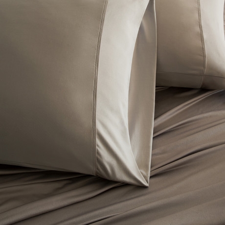 Luxury Copper Collection // Taupe (King Pillowcases)