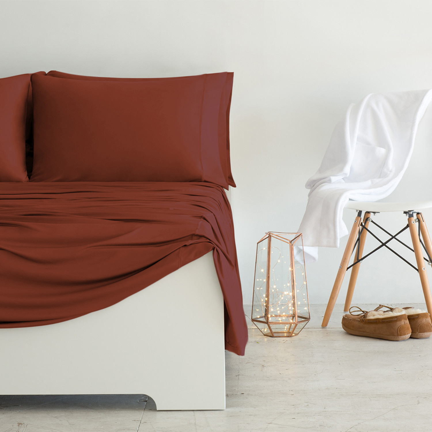 Luxury Copper Collection Rust Standard Pillowcases