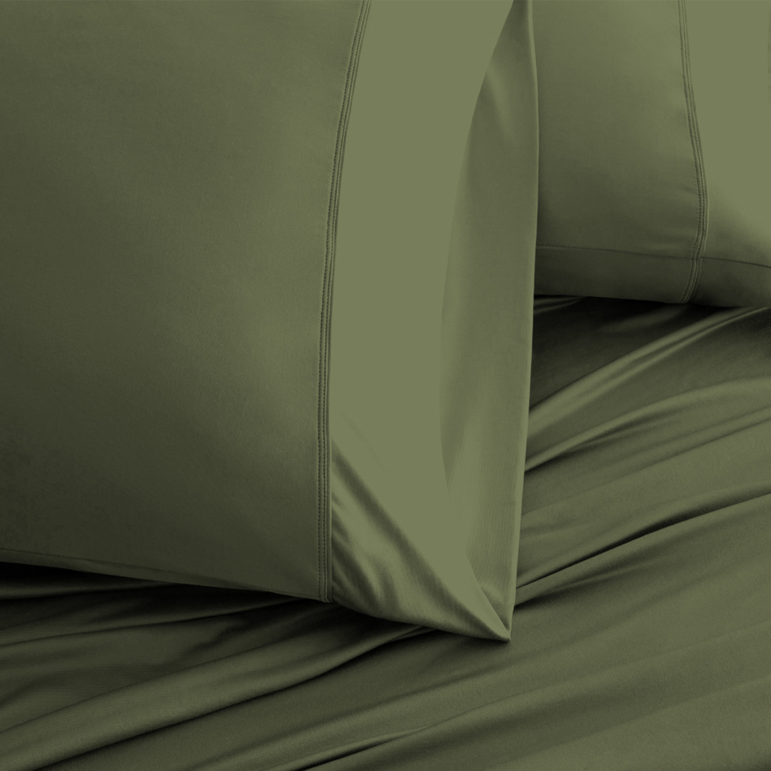 Luxury Copper Collection Olive Standard Pillowcases