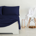 Luxury Copper Collection // Navy (Queen Sheet Set)