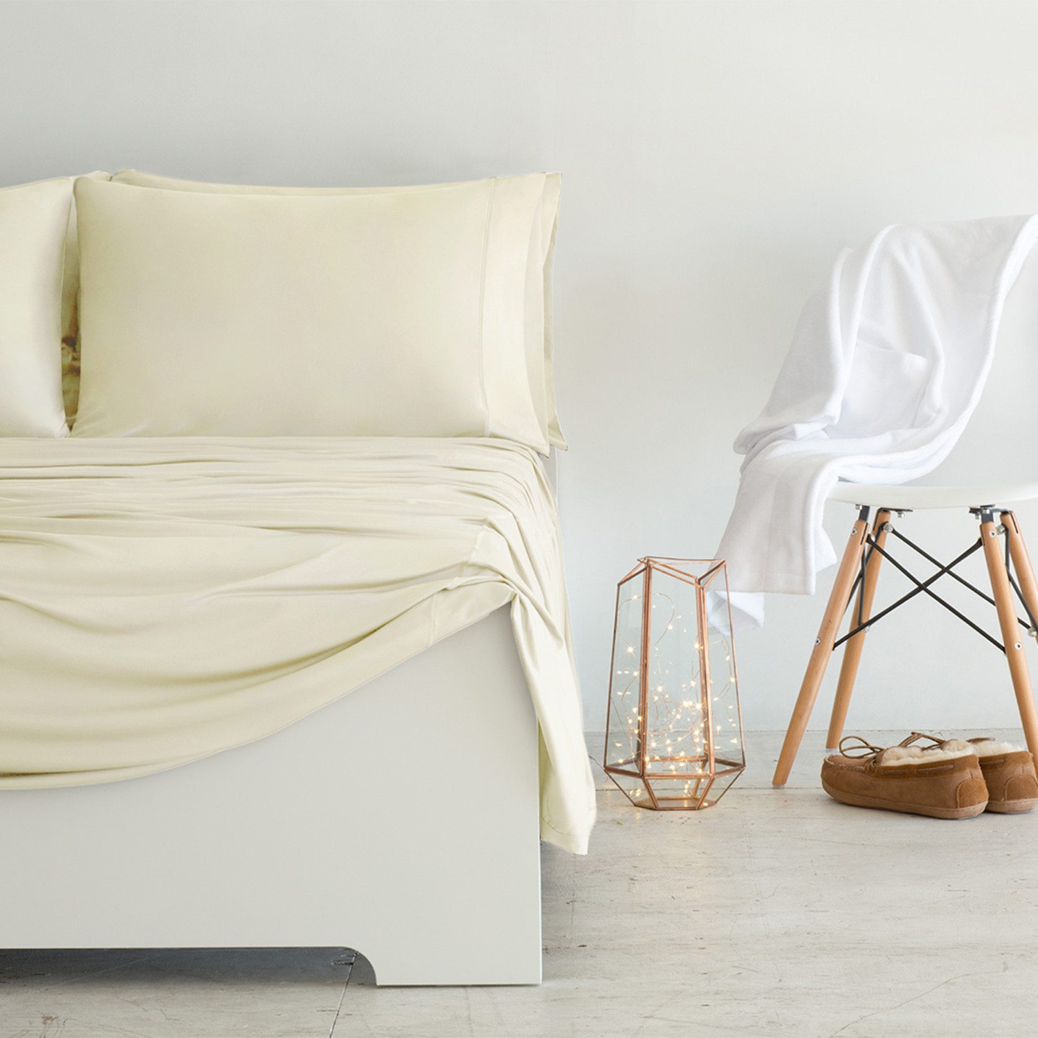 Luxury Copper Collection Ivory Standard Pillowcases