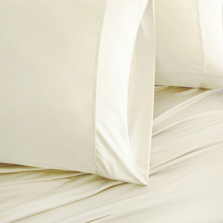 Luxury Copper Collection // Ivory (Standard Pillowcases)