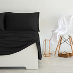 Luxury Copper Collection // Black (California King Sheet Set)