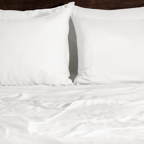 Ecosheex Bamboo Origin Collection // White (Standard Pillowcases)