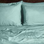 Ecosheex Bamboo Origin Collection // Aqua (Standard Pillowcases)