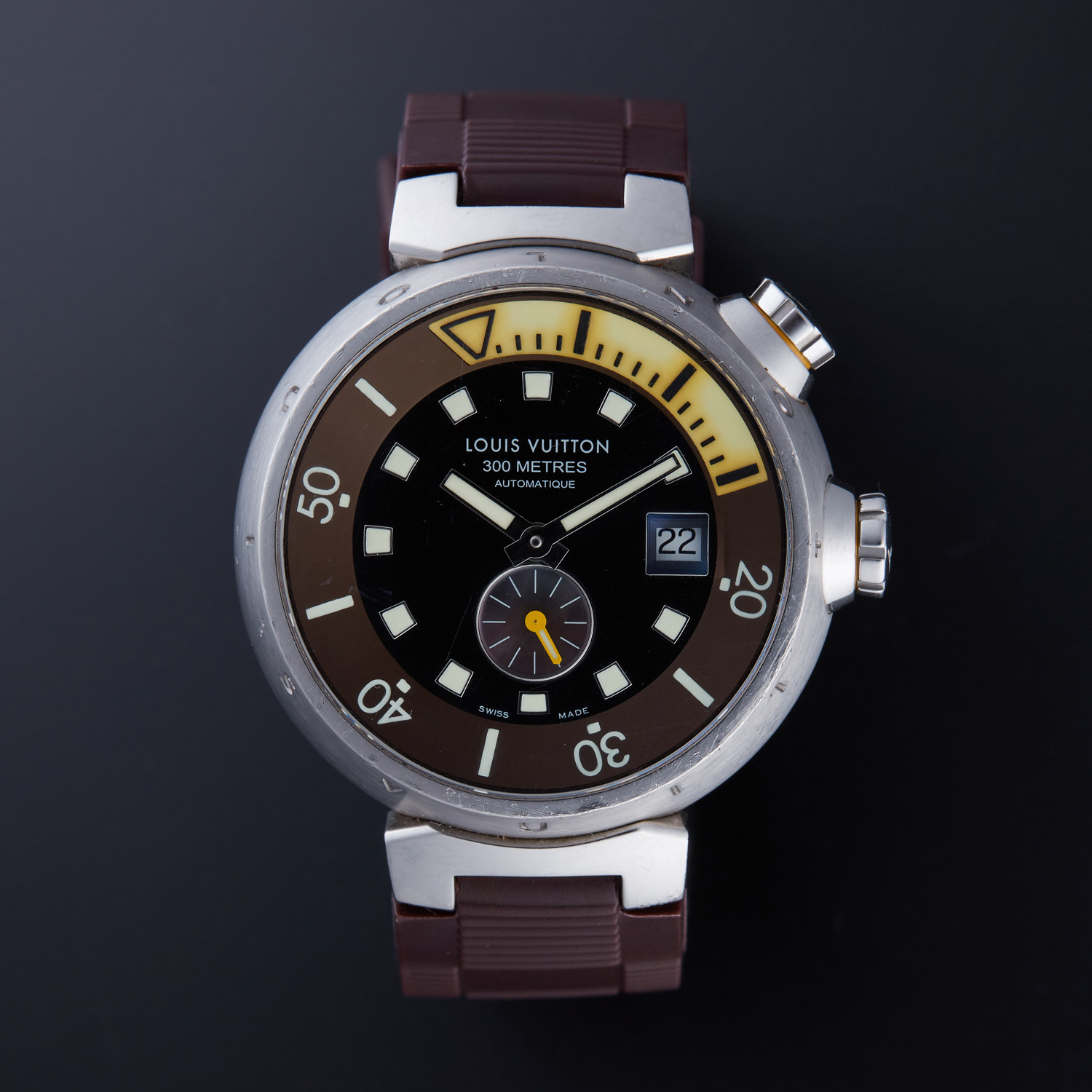 Louis Vuitton Tambour Automatic // Q1031 // Pre-Owned ...