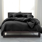 Performance Cooling Duvet Cover // Black (Full/Queen)