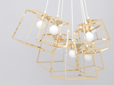 Photo of Iacoli & Mcallister Stellar Lighting Frame Cluster // Plated Steel // 7 Pieces (Copper) by Touch Of Modern