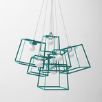 Frame Cluster // Powder Coated // 7 Pieces (Aqua)
