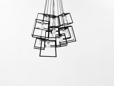 Photo of Iacoli & Mcallister Stellar Lighting Frame Cluster // Powder Coated // 11 Pieces (Black) by Touch Of Modern
