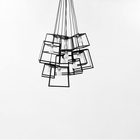 Frame Cluster // Powder Coated // 11 Pieces (Black)