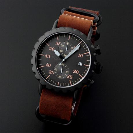 Peregrine Squadron Pilot Chronograph Quartz // Limited Edition // PSA-CH-DLC-1D // Unworn