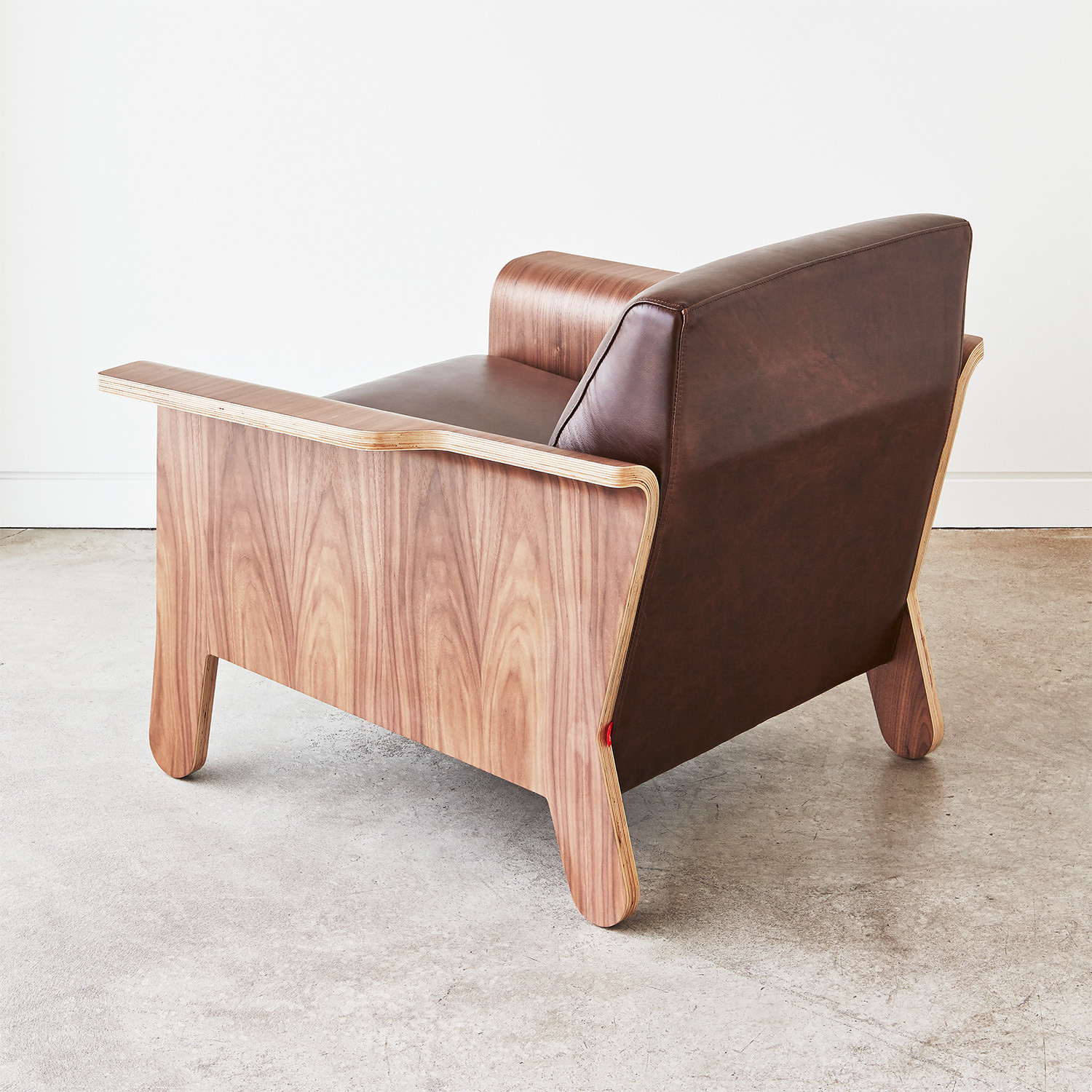 Lodge Chair Chestnut Brown Leather Gus Modern Touch