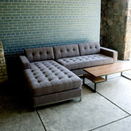 Jane Bi-Sectional // Stainless Steel Base (Leaside Driftwood)