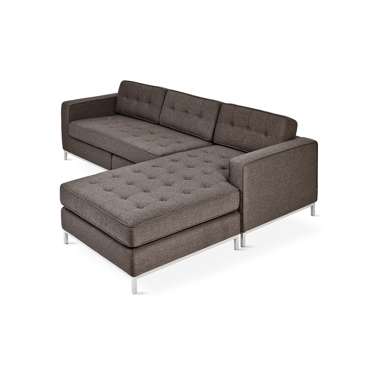 Jane BiSectional Stainless Steel Base Bayview Silver Gus