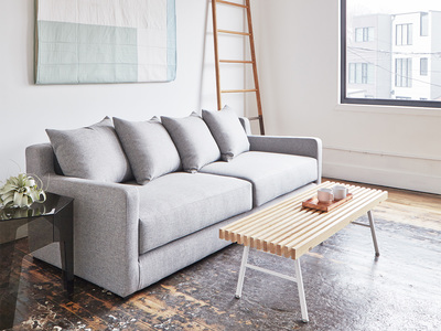 Gus* Modern Mid Century-Inspired Modern Furniture Flipside Sofa Bed (Leaside Driftwood) by Touch Of Modern - Denver Outlet