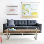 Jane Sofa // Stainless Steel Base (Urban Tweed Ink)