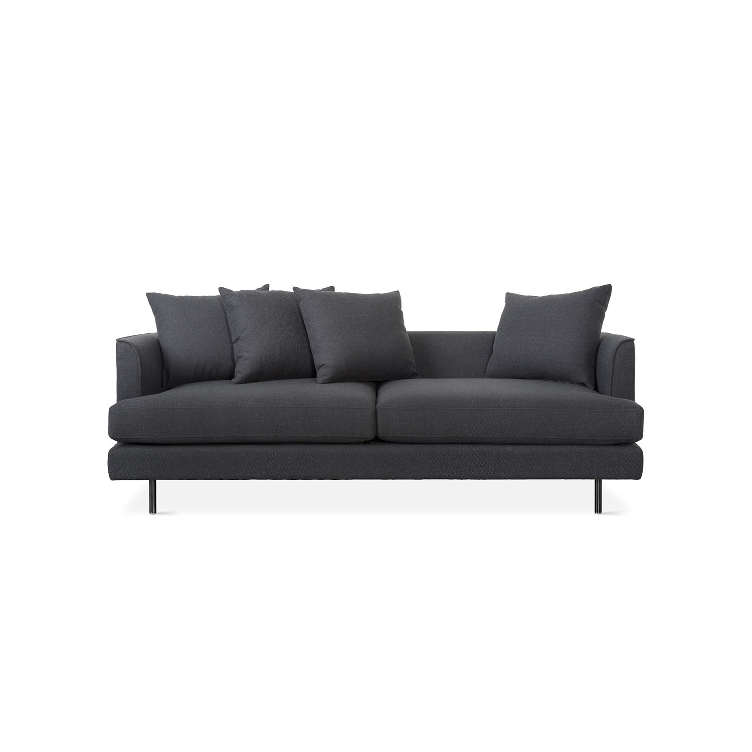 Margot Sofa DISC Oxford Quartz Black Finish Gus Modern
