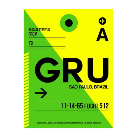 GRU Sao Paulo Luggage Tag