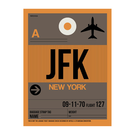 JFK New York Luggage Tag