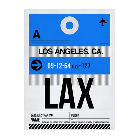 LAX Los Angeles Luggage Tag