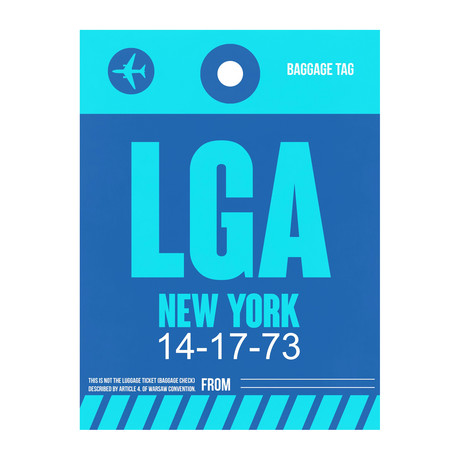LGA New York Luggage Tag