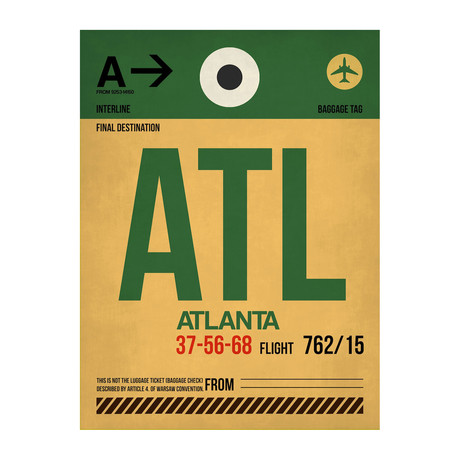ATL Atlanta Luggage Tag