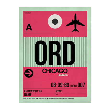 ORD Chicago Luggage Tag