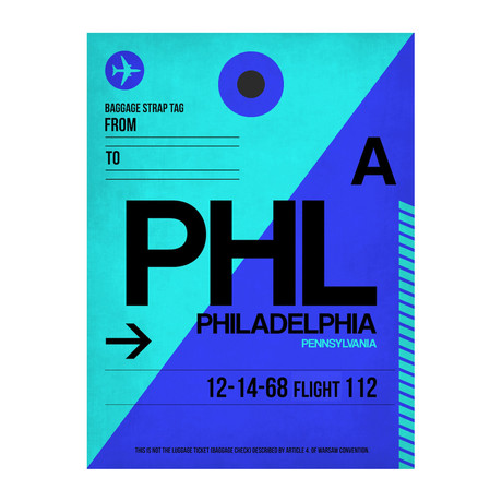 PHL Philadelphia Luggage Tag