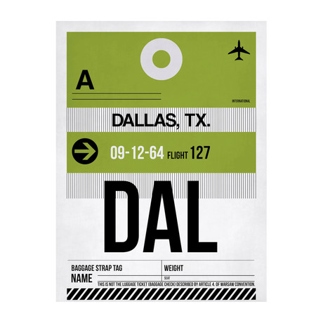 DAL Dallas Luggage Tag