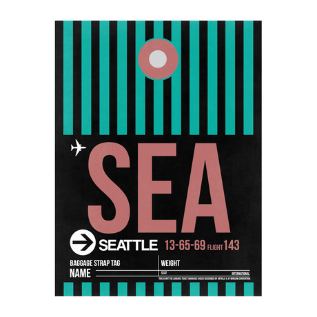 SEA Seattle Luggage Tag