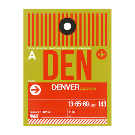 DEN Denver Luggage Tag