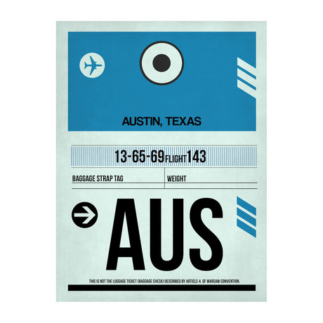 AUS Austin Luggage Tag (v.1)