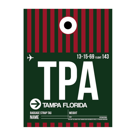 TPA Tampa Luggage Tag (v.1)
