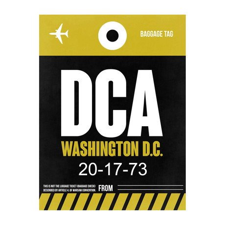DCA Washington, D.C. Luggage Tag