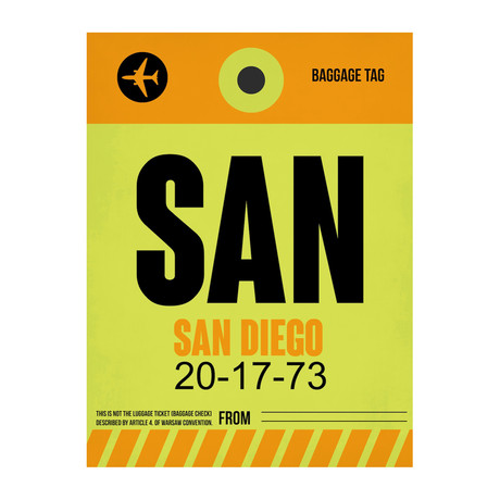 SAN San Diego Luggage Tag