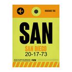 SAN San Diego Luggage Tag