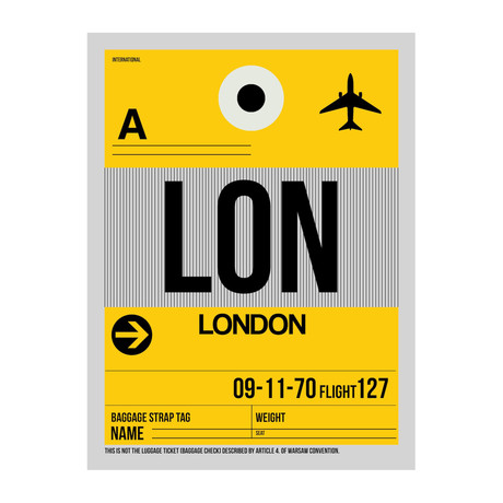 LON London Luggage Tag