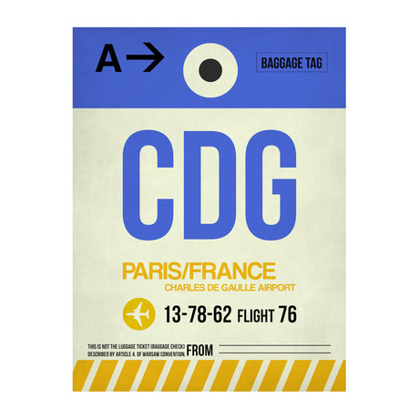 CDG Paris Luggage Tag