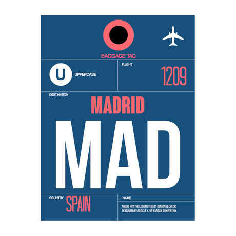 MAD Madrid Luggage Tag