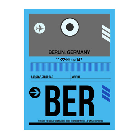 BER Berlin Luggage Tag