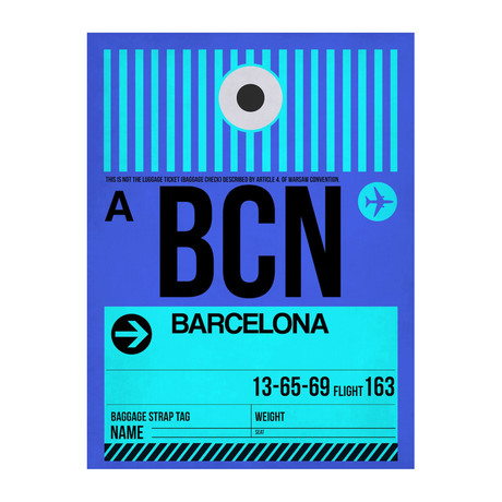 BCN Barcelona Luggage Tag