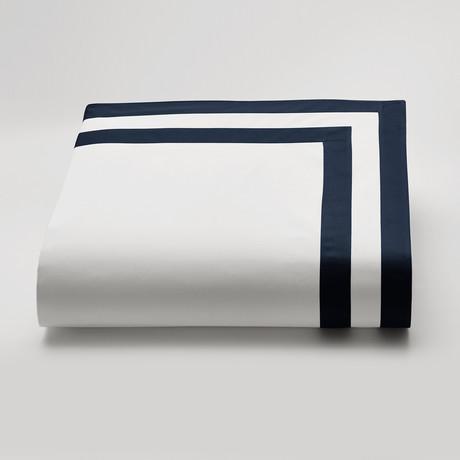 Amalfi // Duvet Cover // White + Navy (DISC // King)