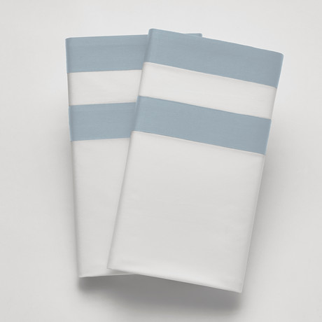 Amalfi // Sham // White + Light Blue (Standard)