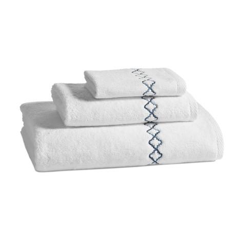 Tivoli Towel // Blue (Bath Mat)