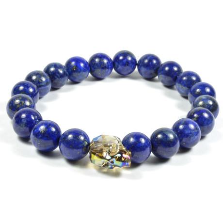Lapis Lazuli + Swarovski Skull