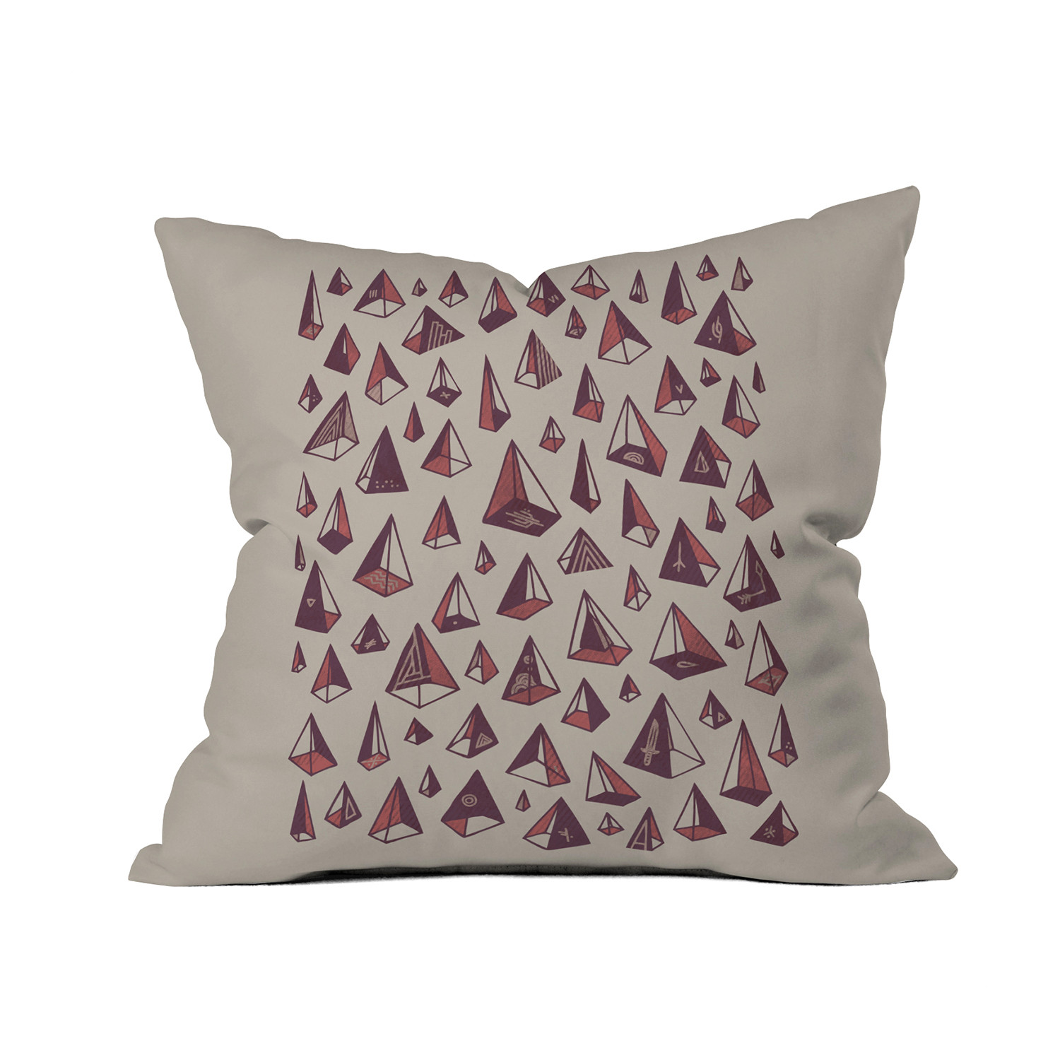 Types Of Decorative Pillow Shapes : Triangles Are My Favorite Shape Throw Pillow (18