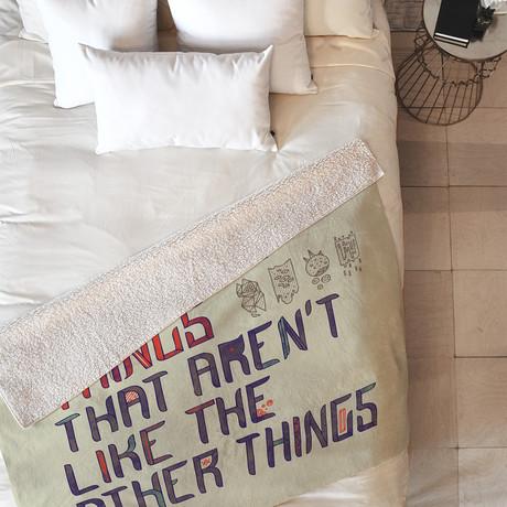 The Things I Like Sherpa Fleece Throw Blanket