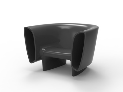 Photo of VONDOM® Spanish-Designed Housewares Eugeni Quitllet // BUM BUM Lounge Chair (Steel Lacquer) by Touch Of Modern